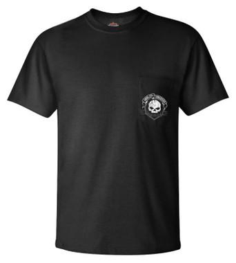 Harley-Davidson Men's Blitz Skull Short Sleeve Chest Pocket T-Shirt - Black - Wisconsin Harley-Davidson