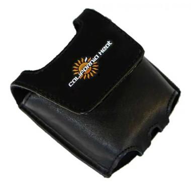 California Heat 12V Dual Dial Temperature Controller Leather Clip Case - Black - Wisconsin Harley-Davidson