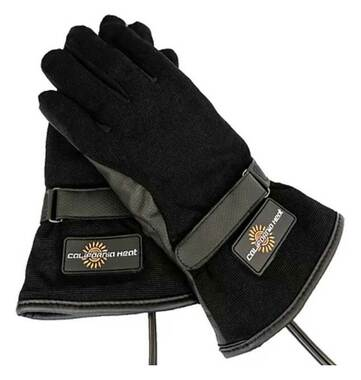California Heat 12V Heated Wind & Water Proof Riding Gloves - Black - Wisconsin Harley-Davidson