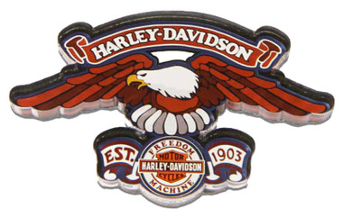 Harley-Davidson Cut-Out Eagle Freedom Machine Hard Acrylic Magnet - 3.5 x 2 inch - Wisconsin Harley-Davidson