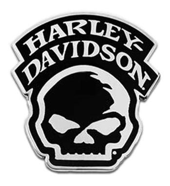Harley-Davidson 1.5 inch. Willie G Skull Logo Metal Pin, Silver Nickel Finish - Wisconsin Harley-Davidson