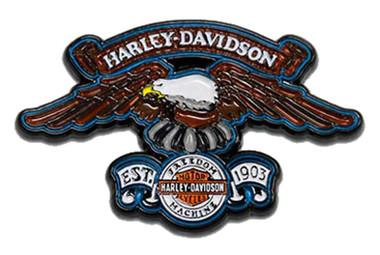 Harley-Davidson 1.75 inch. Eagle Freedom Machine Metal Pin, Black Finish - Wisconsin Harley-Davidson
