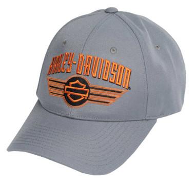 Harley-Davidson Men's Motor Force Curved Bill Adjustable Baseball Cap - Gray - Wisconsin Harley-Davidson