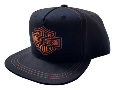 Harley-Davidson Men's Rusted Embroidered B&S Snapback Flat Brim Baseball Cap - Wisconsin Harley-Davidson