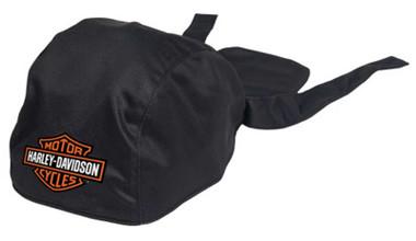 Harley-Davidson Men's Bar & Shield Polyester One Size Headwrap - Solid Black - Wisconsin Harley-Davidson