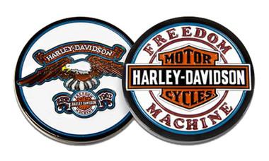 Harley-Davidson Freedom Machine Bar & Shield Metal Challenge Coin, 1.75 in. - Wisconsin Harley-Davidson