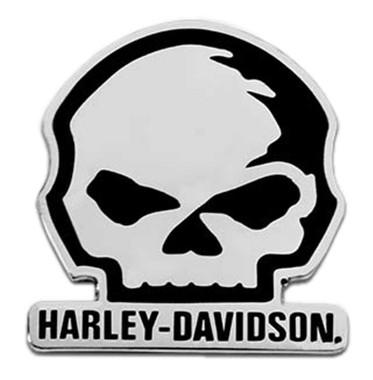Harley-Davidson 1.5 inch. Willie G Skull Logo Metal Pin, Antique Silver Finish - Wisconsin Harley-Davidson