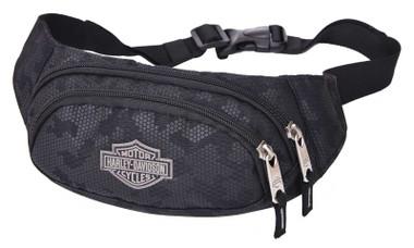 Harley-Davidson Bar & Shield Logo Zippered Adjustable Hip Pack - Nightvision - Wisconsin Harley-Davidson