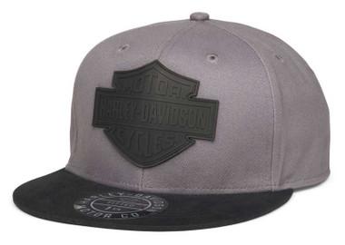Harley-Davidson Men's Bar & Shield Logo Fitted Baseball Cap - Gray 99401-22VM - Wisconsin Harley-Davidson