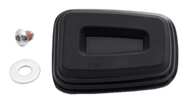 Harley-Davidson Empire Small Rear Brake Pedal Pad - Black Anodized 50600458 - Wisconsin Harley-Davidson