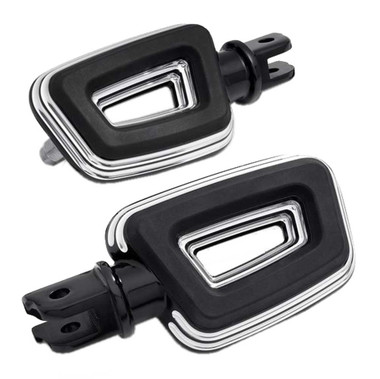 Harley-Davidson Empire Large Rider Cut-Out Footpegs - Black Finish 50501857 - Wisconsin Harley-Davidson