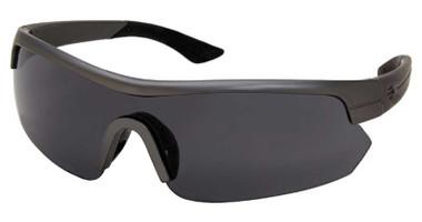 Harley-Davidson Men's Shallow Shield Sunglasses, Gunmetal Frame & Smoke Lens - Wisconsin Harley-Davidson