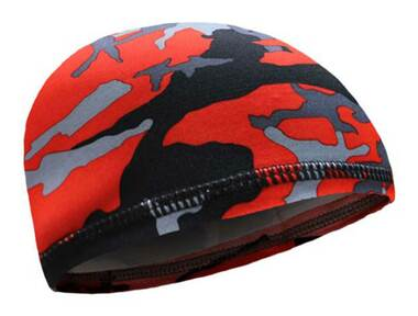 That's A Wrap Unisex Red Camouflage Under Wrap Elastic Skull Cap - Red - Wisconsin Harley-Davidson