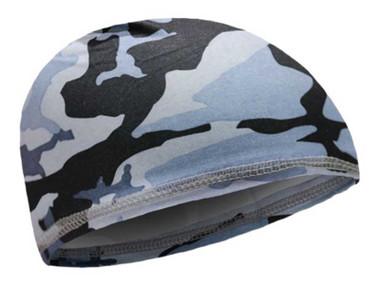 That's A Wrap Unisex Blue Camouflage Under Wrap Elastic Skull Cap - Blue - Wisconsin Harley-Davidson