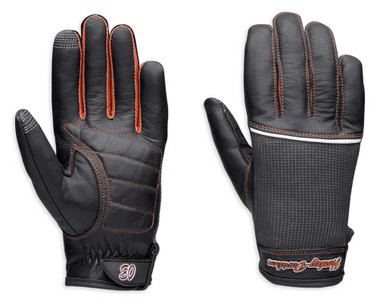 Harley-Davidson Women's Cora Leather & Mesh Full-Finger Gloves 98295-14VW - Wisconsin Harley-Davidson