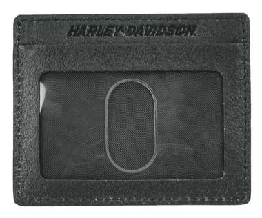 Harley-Davidson Men's Black Label #1 Skull Front Pocket Wallet BLK UN7539L-Black - Wisconsin Harley-Davidson