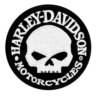 Harley-Davidson Hubcap Skull Small Patch, 4'' W x 4'' H EM1029882 - Wisconsin Harley-Davidson