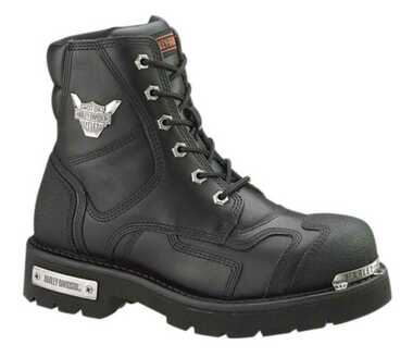 Harley-Davidson Men's Stealth Motorcycle Boots. Patch Lace Black Riding D91642 - Wisconsin Harley-Davidson