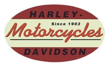 Harley-Davidson Since 1903 Oval Tin Metal Sign 11 x 18 Inch 2010211 - Wisconsin Harley-Davidson