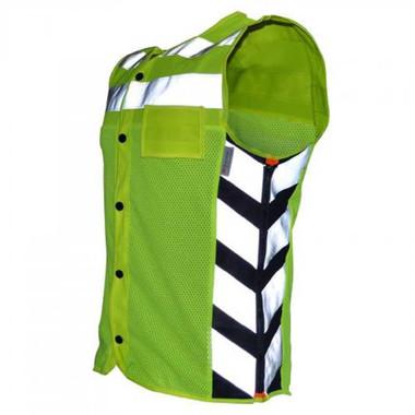 Missing Link Men' s Meshed Up Safety Vest HiViz Reflective Green - MUMG - Wisconsin Harley-Davidson