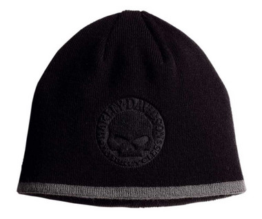 Harley-Davidson Men's Circle Willie G. Skull Knit Hat 99482-07V - Wisconsin Harley-Davidson