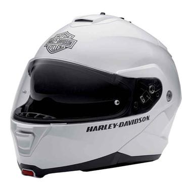 Harley-Davidson Mens Modular Helmet, Capstone Sun Shield, White 98371-15VM - Wisconsin Harley-Davidson