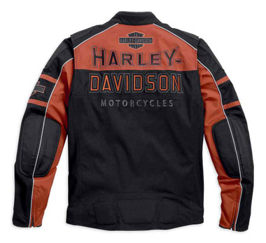 Harley-Davidson Men's Gastone Colorblocked Riding Jacket, Black 98112-16VM - Wisconsin Harley-Davidson