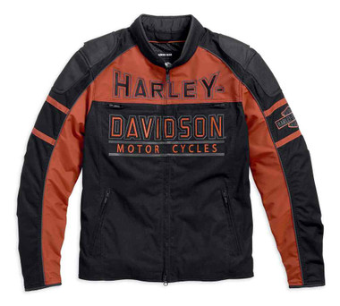 Harley-Davidson Men's Gastone Colorblocked Riding Jacket, Black 98112-16VM - Wisconsin Harley-Davidson