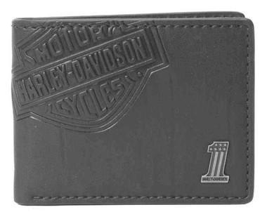 Harley-Davidson Men's Classic Billfold, HD Bar & Shield Wallet, CR2343L-Black - Wisconsin Harley-Davidson