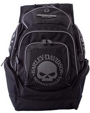 Harley-Davidson Mens Skull Backpack BP1924S-BLACK - Wisconsin Harley-Davidson