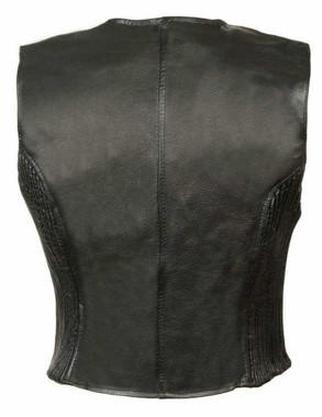 Leather King Women's Zipper Front vest w/ Side Stretch SH1288 - Wisconsin Harley-Davidson