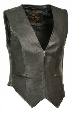 Leather King Women's Zipper Front vest w/ Side Stretch SH1288 - Wisconsin Harley-Davidson