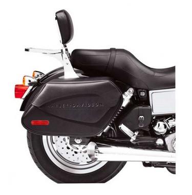 Harley-Davidson Synthetic Leather Saddlebags Black Dyna Models 90564-06D - Wisconsin Harley-Davidson