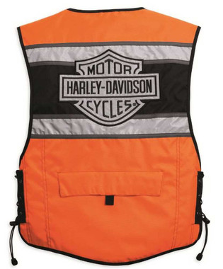Harley-Davidson Men's Hi-Vis Orange Riding Vest 98172-08VM - Wisconsin Harley-Davidson