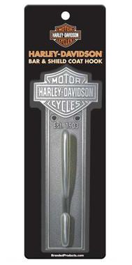 Harley-Davidson Bar & Shield Coat Hook, Antique Pewter Finish HDL-10137 - Wisconsin Harley-Davidson