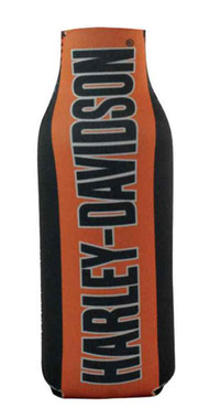 Harley-Davidson Zippered Bottle Wrap Cooler H-D Script, Orange & Black BZ02264 - Wisconsin Harley-Davidson