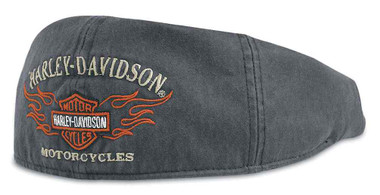Harley-Davidson Men's Bar & Shield Flames Graphic Ivy Cap 99537-11VM - Wisconsin Harley-Davidson