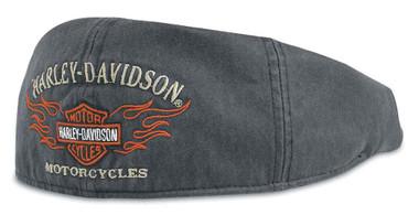 Harley-Davidson Men's Bar & Shield Flames Graphic Ivy Cap 99537-11VM - Wisconsin Harley-Davidson