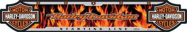 Harley-Davidson Dart Throw Line, Flame Floor Throwing Line, Poly 61954 - Wisconsin Harley-Davidson