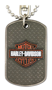 Harley-Davidson Dog Tag, Willie G. Skull / Bar & Shield Logo, Silver 8002732 - Wisconsin Harley-Davidson