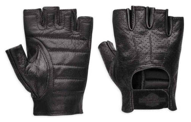 Harley-Davidson Men's Perforated Bar & Shield Fingerless Gloves 98182-99VM - Wisconsin Harley-Davidson