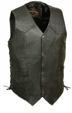 Leather King Men's Classic Side Lace Biker Vest SH1315 - Wisconsin Harley-Davidson