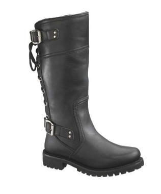 Harley-Davidson Women's Alexa Back Lace Black Leather Motorcycle Boots D85167 - Wisconsin Harley-Davidson