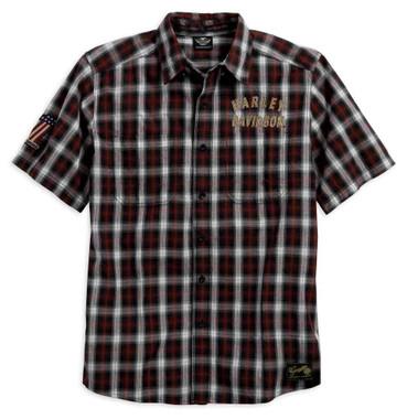 Harley-Davidson Men's Genuine Classics #1 Plaid Shirt Short Sleeve. 99011-16VM - Wisconsin Harley-Davidson