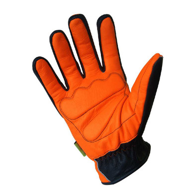 Missing Link Communique Visability Gloves Black, Hi-Viz Orange CGG - Wisconsin Harley-Davidson