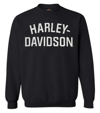 Harley-Davidson Men's Heritage Pullover Crew Sweatshirt Black H-D 30296636 - Wisconsin Harley-Davidson