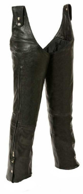 Leather King Unisex Beltless Chaps w/ Waist Adjustment SH1198 - Wisconsin Harley-Davidson