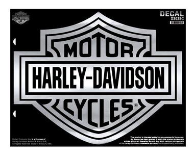 Harley-Davidson Bar & Shield X-Large Chrome Decal, X-Large Size D3028C - Wisconsin Harley-Davidson