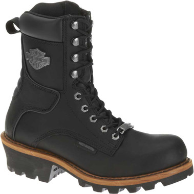 Harley-Davidson Men's Tyson Logger Black 7.5-Inch Motorcycle Boots, D95188 - Wisconsin Harley-Davidson