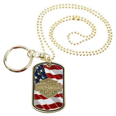 Harley-Davidson Originals Dog Tag, Est 1903 Bar & Shield, Chain/Key Ring 8003463 - Wisconsin Harley-Davidson